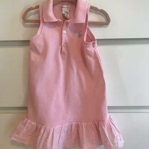 Pink Ralph Lauren sleeveless dress 24m